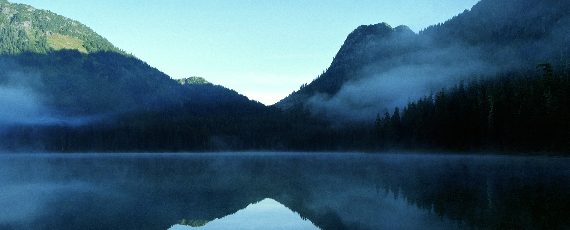 Canada, British Columbia, Whistler, Madely Lake, cover with fog